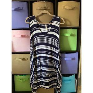 Unique striped flowy Dress